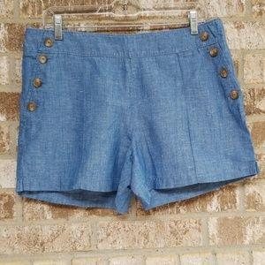 Ann Taylor Loft The Riviera Short Blue Size 8